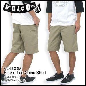 NWT Volcom 'Fricken Too Chino Short' Size 40